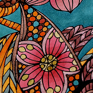 stunning artistic colouring in design