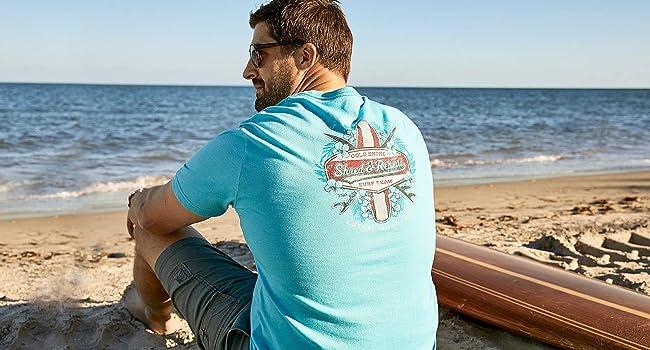 IZOD saltwater graphic tee t-shirt