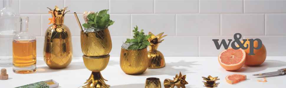Copper, Pineapple, Shaker, Cocktail, Drink, Mixer, Glass, Tumbler, Bar, Cup, Shot, Martini, Glass