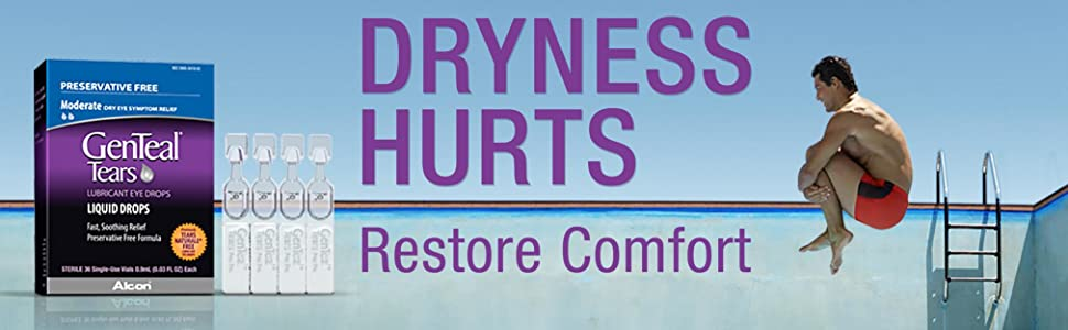 dryness hurts restore comfort with genteal