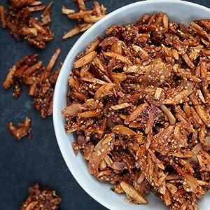 Vegan Gluten Free Sweet & Salty Cinnamon Toasted Granola