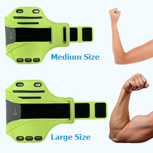 Adjustable Running Armband for different arm widths