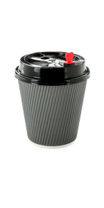 Browse these disposable coffee cups that have built-in ripple wall insulation to keep hands cool.
