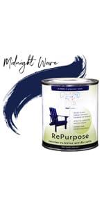 Midnight Wave Blue Satin Paint