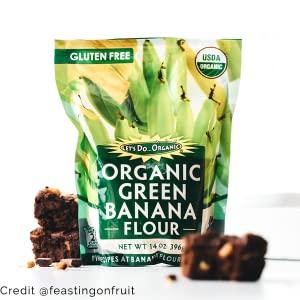 gluten free organic green banana flour