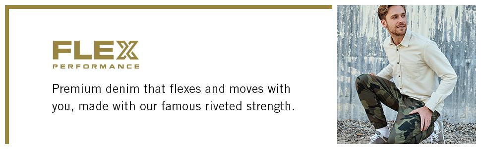 Flex performance denim