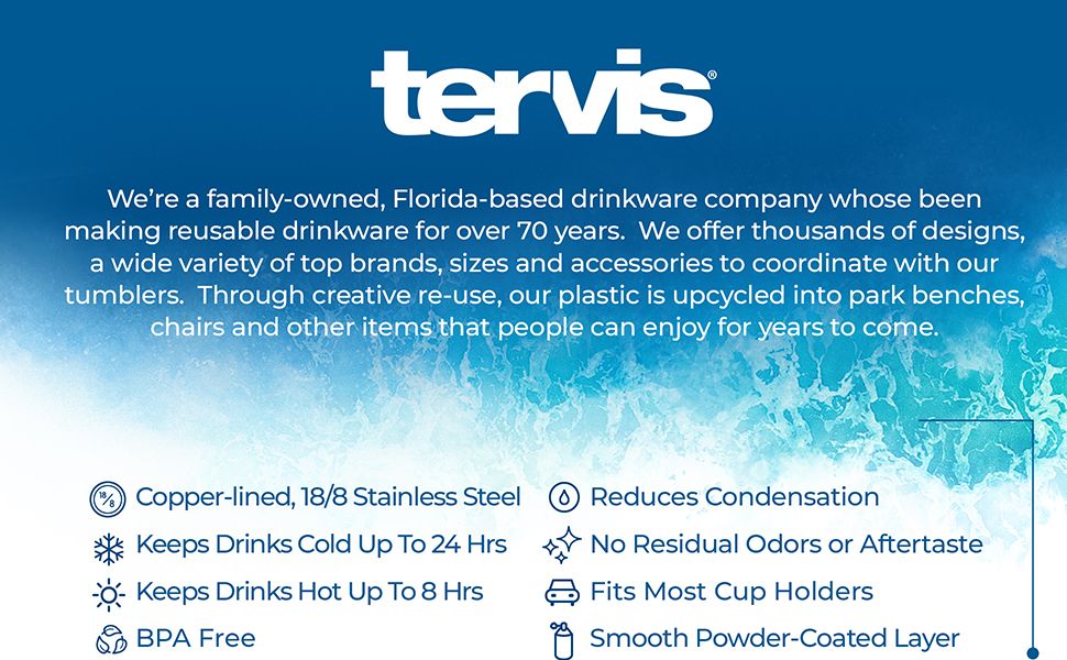 Tervis 20 oz Powder Coated Stainless Steel Tumbler