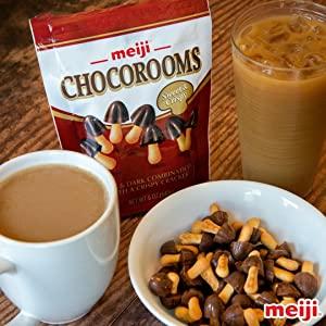 meiji america chocorooms chocolate strawberry snack