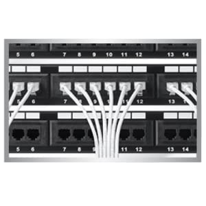 helps reduce congestion in high-density environments, such as data centers &telecommunications rooms