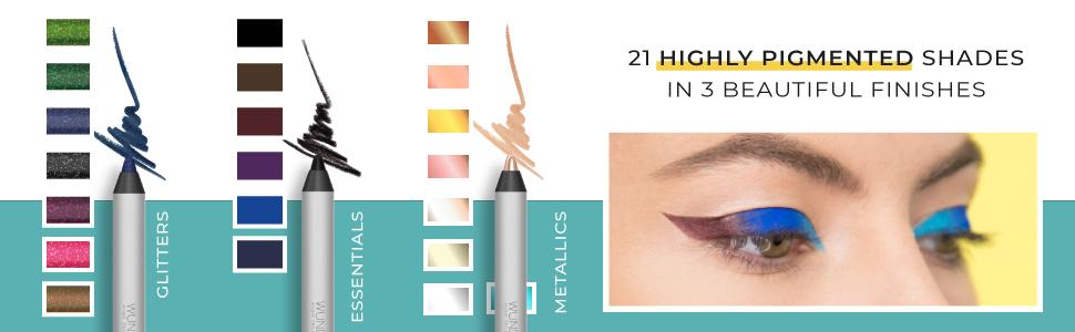 wunder2 wunderbrow eye eyeliner liner pencil black brow waterproof brown women makeup coloured gold