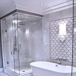 bathroom crown around shower and tub