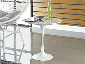 side table, table, mid-century modern, chip-resistant, artificial marble top