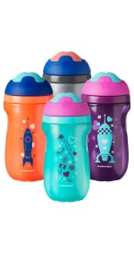sippy cup toddler training transition insulate water bottle active sports space stem astronaut stars