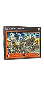 YouTheFan NFL Joe Journeyman 500 Piece Puzzle, Chicago Bears