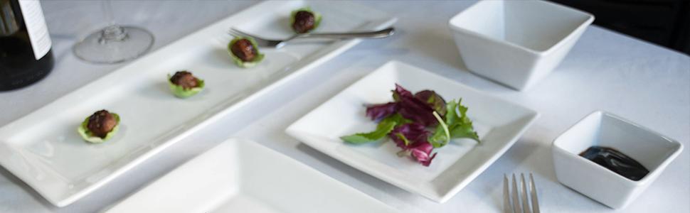 Tuxton Home White Ceramic Dinnerware