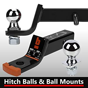 """bROK Hitch Ball Receiver Mount 1-3/4"""" 2"""" 2-5/16"""" Drop Rise Stainless 1-1/4"""" 2-1/2"""""""