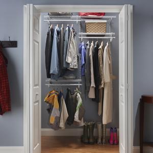 ClosetMaid, ShelfTrack, Wire Closet, Closet Organizer, Wire Shelves, Adjustable shelving