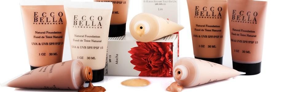 ecco bella foundation, eco bella makeup, ecco bella concealer, ecco bella mascara