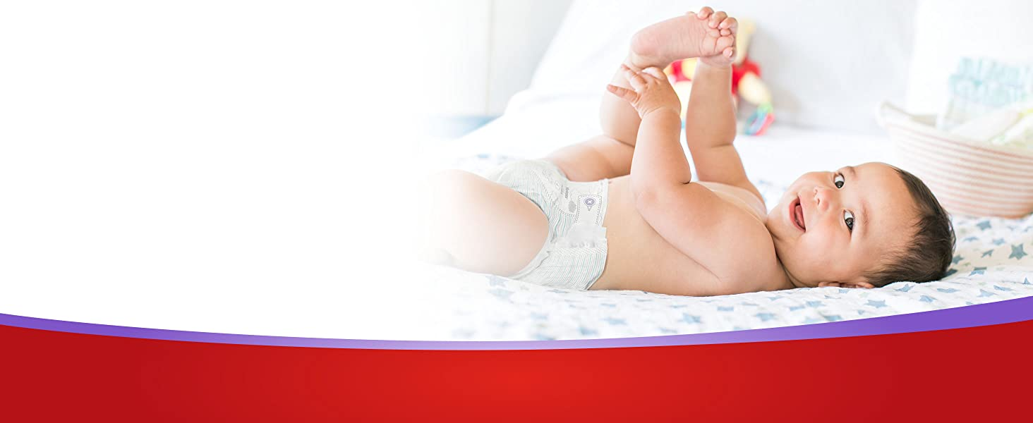 Huggies Little Movers diapers are #1 trusted diaper for active babies with 12-hour leak protection