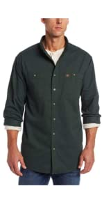 RIGGS Workwear Long Sleeve Twill Work Shirt