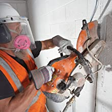 Concrete cutting with Diamond Blades and chop saw