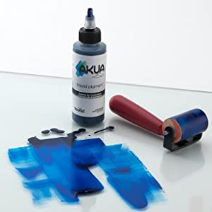 akua, liquid pigment, intaglio, speedball, monoprinting, monotype, printmaking ink