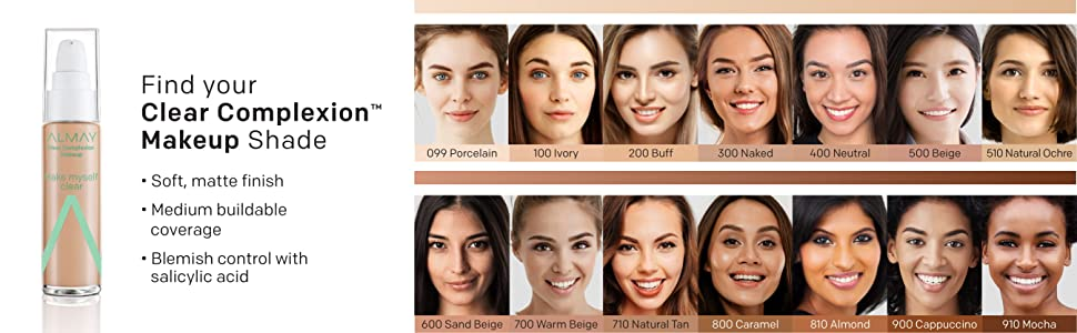 clear complexion makeup shade foundation