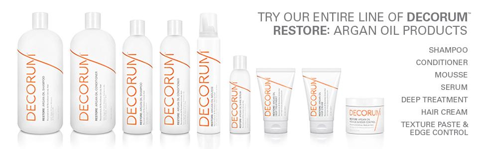 Argan Oil, Hair, Shampoo, Conditioner, Mousse, Hair Cream, Paste, Edge Control, Treatment, Serum