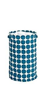 college dorm bin organizer laundry hamper blue navy clothes college dorm small space bin fun shape
