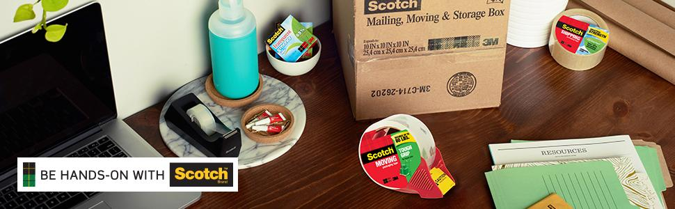 Scotch Brand Packaging Tape, strength, any job, any time
