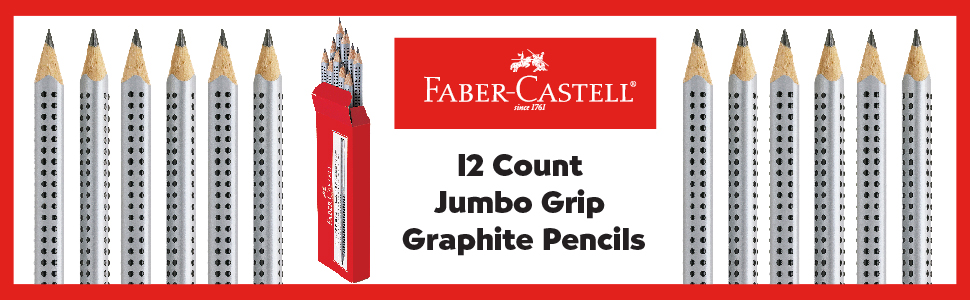 Pencils, Faber-Castell Pencils, Triangular Pencil, Learning to Write, Back to School, Soft Grip