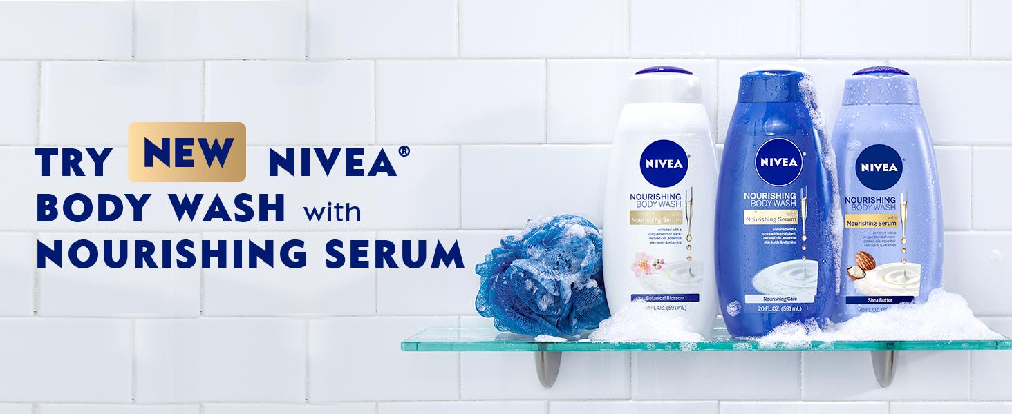 nivea body wash, body wash for women, shower gel, shower gel for women, loofa, bath toys, bath bombs