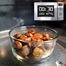 Warm up in a microwave - 30 seconds at 1000 watts