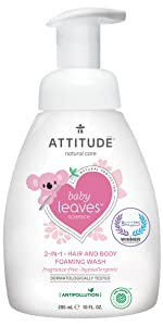 Fragrance-Free baby leaves foaming wash