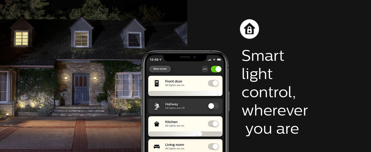Philips;Hue;smart lighting;LED;smart home;app controlled;Hue Hub;outdoor;security