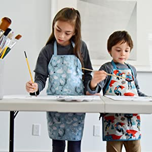 urban infant bunnies urban dude little help apron kids painting
