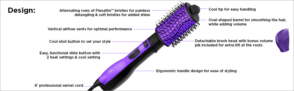 conair infiniti pro hot air brush hair dryer one step styler
