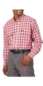 RIGGS Long Sleeve Foreman Plaid Work Shirt