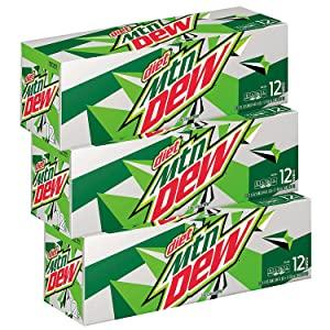 diet mtn dew soda pop 36 cans