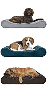 furhaven; dog; pet; bed; contour; ergonomic, orthopedic