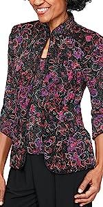 twinset, twin set, tank top, jacket, blazer, cami, mandarin neck, hook and eye, elegant womens top