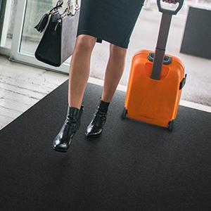 Sure Stride Plush matting, safe, clean, comfortable, high traction, low profile matting
