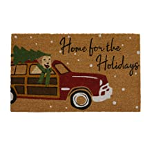 Elrene Home Fashions Home for the Holiday's Coir Doormat