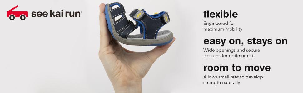 Flexible sandal, boys water-sandal