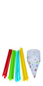 Snow Cone Cups & Spoon Straws
