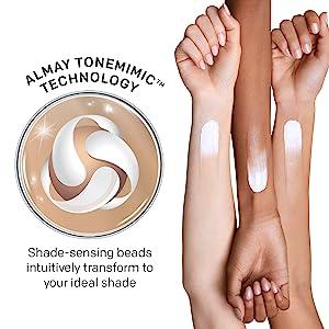 Almay Smart Shade Skintone Matching Foundation Makeup With Shade Sensing Bead Technology