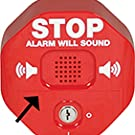 label area for exit alarm beeps flashes sounds prevention theft vandalism stopper