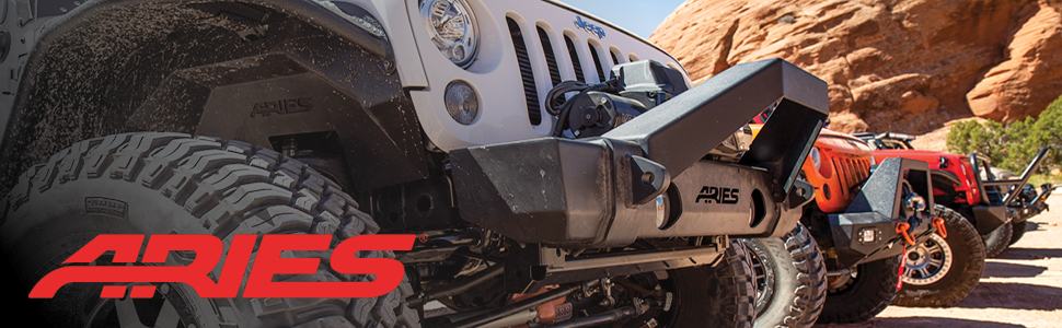 ARIES Truck Grille Guards with Lights, Jeep Grill Guards with Lights