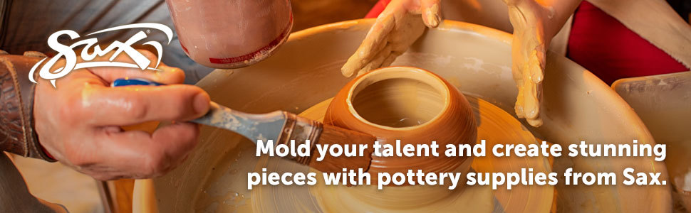 Mold your talent and create stunning pieces with pottery supplies from Sax.