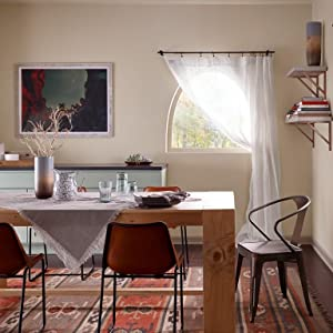 eggshell paint, dining room, neutral paint, behr paint